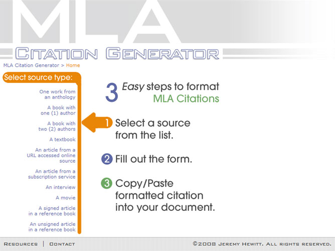 mla style citation generator Start making citations the easybib way make citations in mla, apa, chicago this guide presents the base rules of chicago style along with citation examples for.
